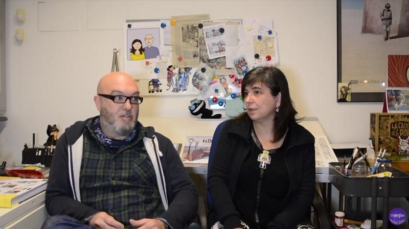CRISTINA DURÁN Y MIGUEL ÁNGEL GINER EN LA BIBLIOTECA VALENCIANA
